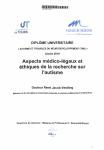 Aspects médico-légaux et éthiques de la recherche sur l'autisme